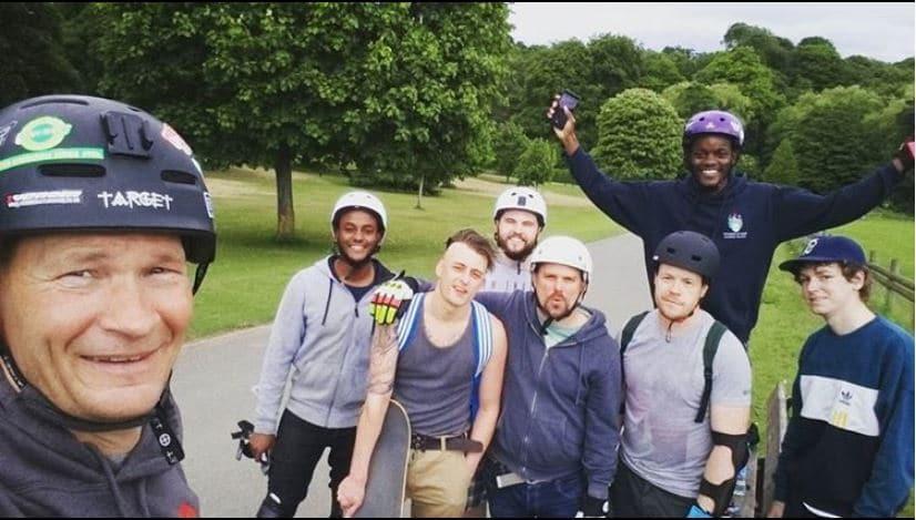 Leeds downhill skateboarding crew
