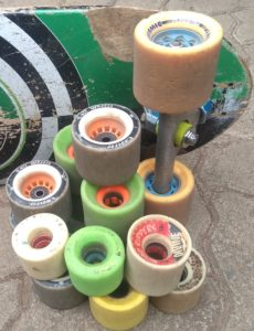 second-hand longboard wheels