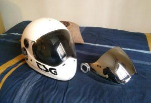 TSG pass helmet and visor
