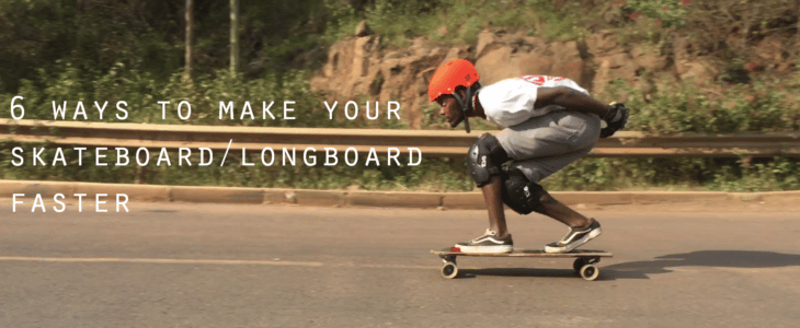 Longboarder tucking