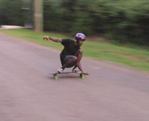 heelside longboard slide sliding early