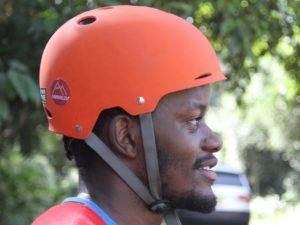 smiling skateboarder