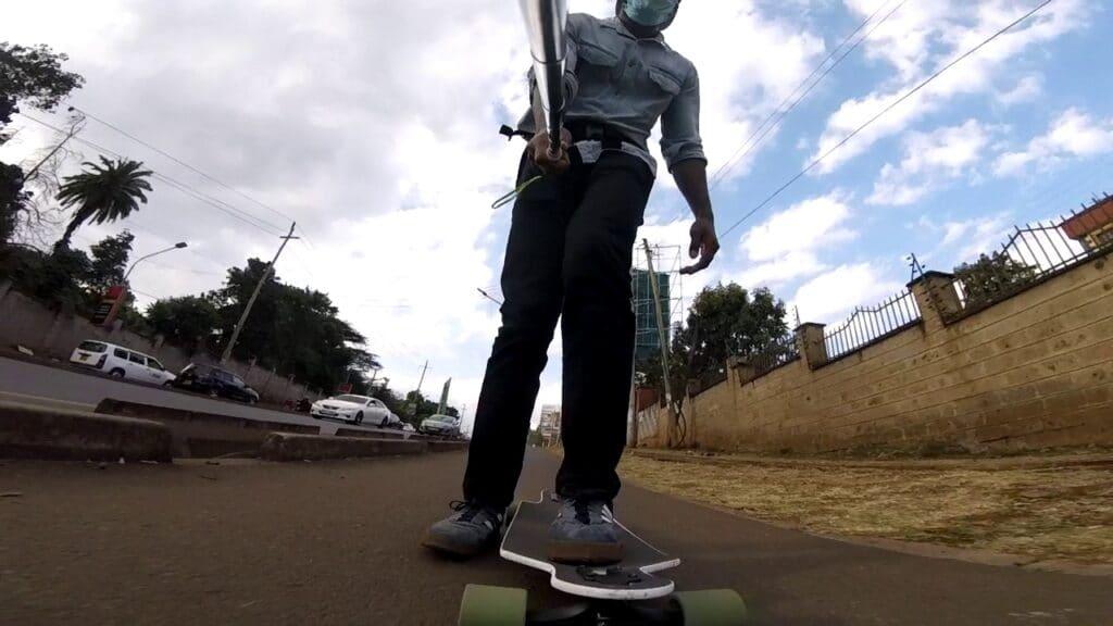beginner longboard mistakes - not footbraking